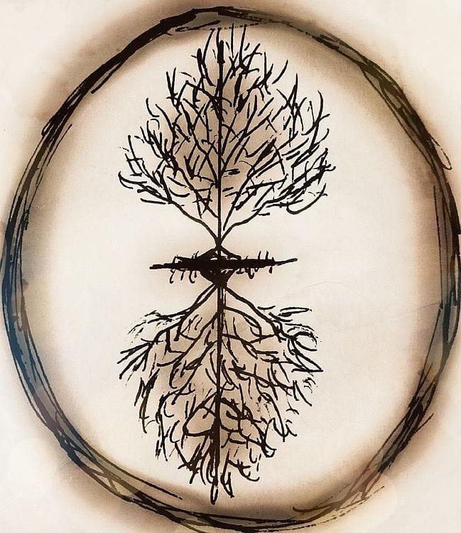 treet som vekser opp-ned - hans børli